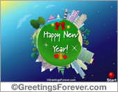 Expandable eCard: Happy New Year