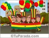 Fútbol, selecciones - Tarjetas postales: Bolivia