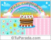 Tarjeta de Tortas de cumpleaños