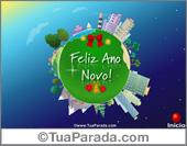 Cartões postais: Cartão expansível: Feliz Ano Novo