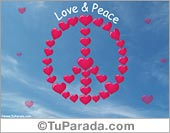 Tarjetas postales: Tarjeta Love and Peace