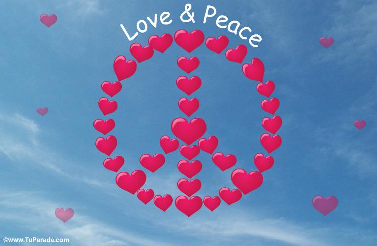 Tarjeta - Tarjeta Love and Peace