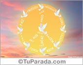 Tarjetas, postales: Postal Paz con sol