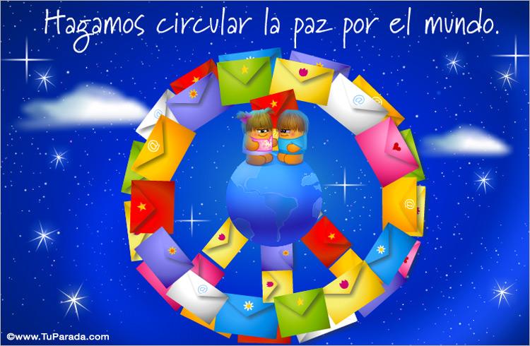 Tarjeta - Tarjeta: La paz a través de Internet
