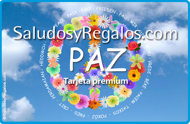 Tarjeta - Tarjeta de Paz con flores