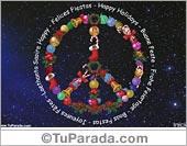 Tarjeta - Tarjeta Símbolo de la paz de Navidad