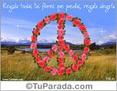 Símbolo de la paz con rosas