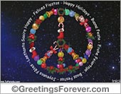 Ecards: Peace Symbol for Christmas - egreeting