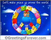 Ecards: Peace Symbol with envelopes