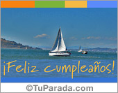 Tarjeta - Tarjeta con foto de barco y colores