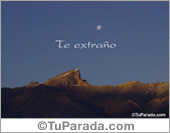 Paisajes - Tarjetas postales: Te extraño con foto de montaña