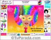 Tarjetas postales: Tarjeta de Carnaval para armar