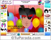 Tarjetas postales: Tarjeta interactiva de Carnaval de varón