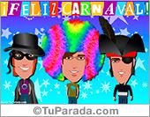Tarjeta de carnaval para amigos