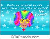 Tarjetas postales: Tarjeta de Carnaval de mujer