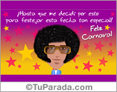 Tarjetas postales: Tarjeta de Carnaval de varón
