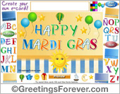 Greeting ecards: Mardi Gras ecard