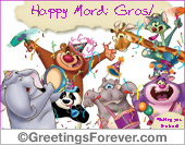Greeting ecards: Mardi Gras eGreeting