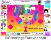 Greeting ecards: Happy Mardi Gras!