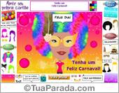 Cartões de Carnaval