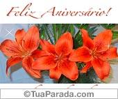 Cartões postais: Cartão de flores