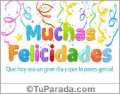 Felicidades - Tarjetas postales: Tarjeta de felicidades con adornos