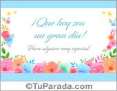 Tarjetas, postales: Feliz Día
