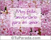Tarjetas postales: Feliz aniversario para mi amor