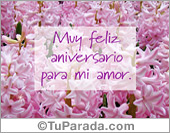 Feliz aniversario para mi amor
