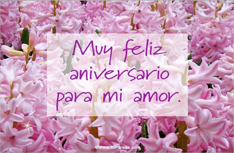 Feliz Aniversario Mi Amor: Feliz Aniversario Para Mi Amor, Aniversario, Tarjetas