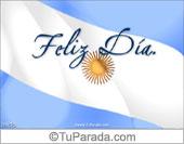 Tarjetas postales: Feliz día con bandera Argentina