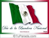 Tarjetas postales: Día de la Bandera de México