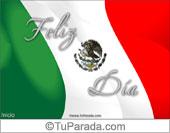 Fiestas Patrias de México - Tarjetas postales: Tarjeta de Bandera de México
