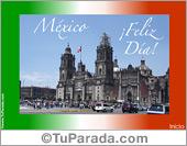 Fiestas Patrias de México - Tarjetas postales: Tarjeta de México