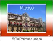 Fiestas Patrias de México - Tarjetas postales: Postal de México
