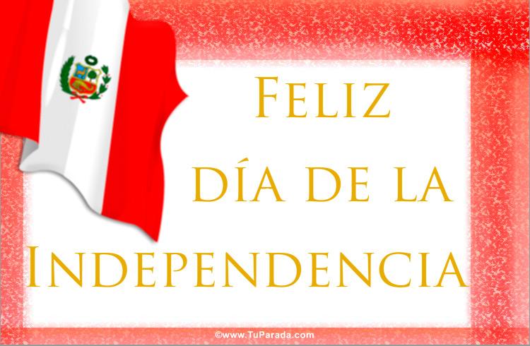 tarjetas para días especiales de Perú, postales con la bandera de