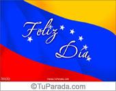 Tarjeta con la bandera de Venezuela