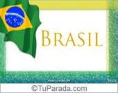 Tarjeta de Fiestas de Brasil
