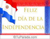 Tarjeta de la bandera de Paraguay