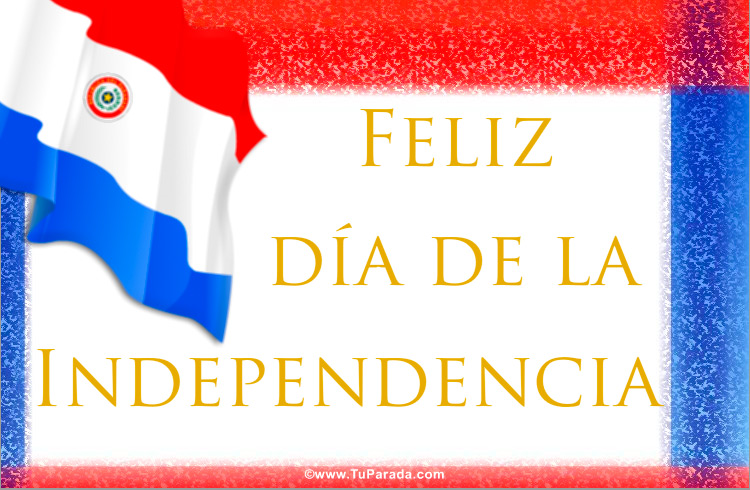 Tarjeta de la bandera de Paraguay, Fiestas de Paraguay, tarjetas