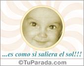 Familiares - Tarjetas postales: Tarjeta de feliz nacimiento