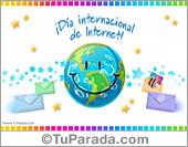 Tarjeta de Día internacional de Internet