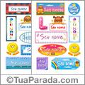 Nomes em stickers