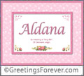 Meaning of Aldana to print
