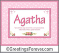 Meaning of Agatha to print or send