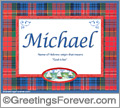 Meaning of Michael to print or send
