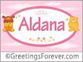 Names for babies, Aldana