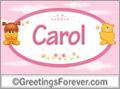 Names for babies, Carol