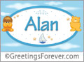 Names for babies, Alan