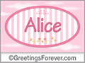 Names for doors, Alice